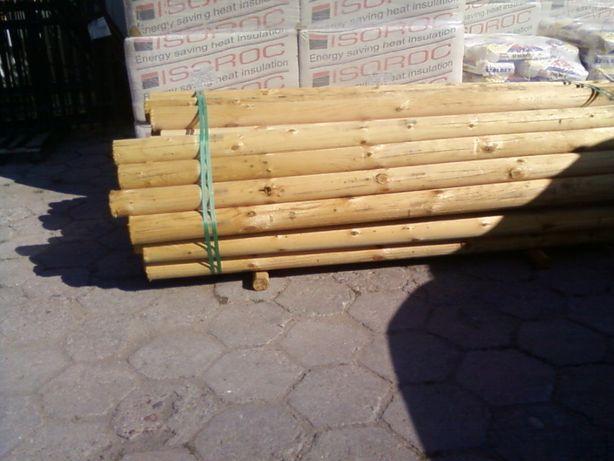 Ogrodzenie,słupki drewniane,kolki huśtawka