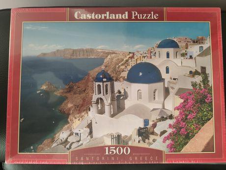 Puzzle 1500 Santorini Greece nowe, w folii