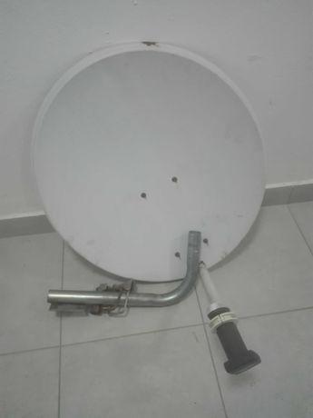 Antena satelitarna + konwerter + uchwyt anteny