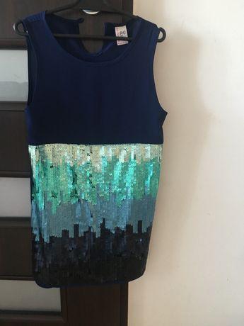 Sukienka cekinowa Reserved r.128/140