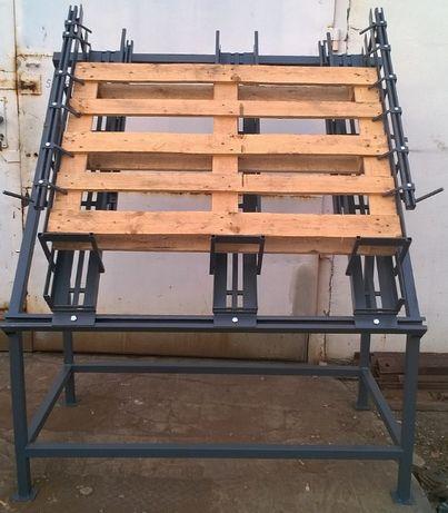 Stół / Forma do produkcji, zbijania palet (euro i inne - regulowany)