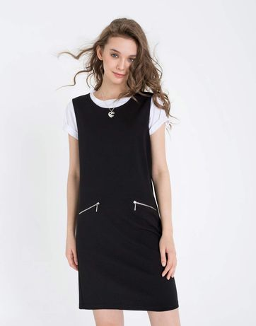 F&F платье сарафан чёрный работа М