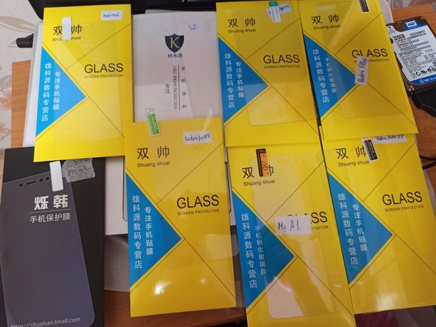 Защитное стекло Xiaomi Redmi Note 8/, Shark3, Mi A1, Redmi 5Plus, Mi9
