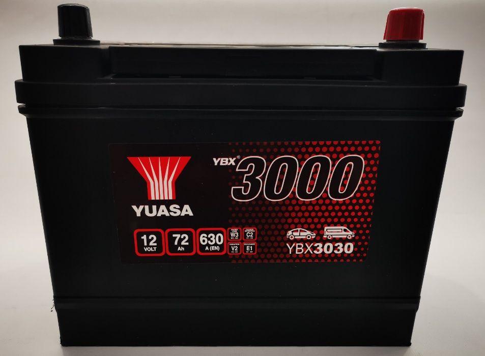 Akumulator YUASA YBX3030 72Ah 630A Promocja!!! Wrocław - image 1