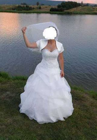 Suknia Ślubna Welon Bolerko