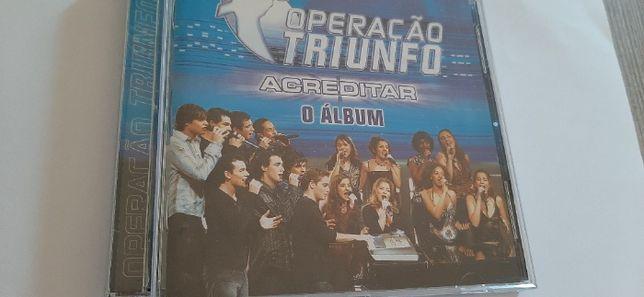 1 CD Operação Triunfo - Acreditar o álbum