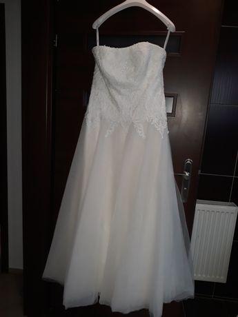 Suknia ślubna Agnes 38 40 gorset śmietankowa