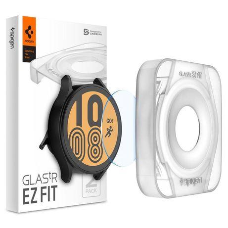 """Película Hartowane Spigen Glas.Tr """"Ez Fit"""" 2-Pack Galaxy Watch 4 44 Mm"""