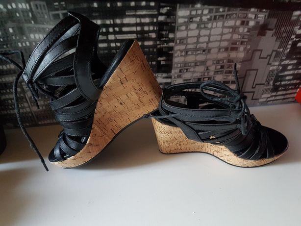 sandały na lato buty sandałki nowe rozmiar 36 na koturnie