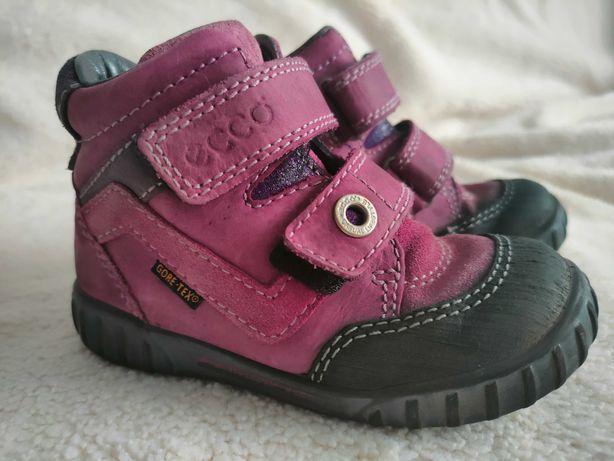 Buty Ecco Gore-tex 24 skórzane przejściowe wiosenne dla dziewczynki