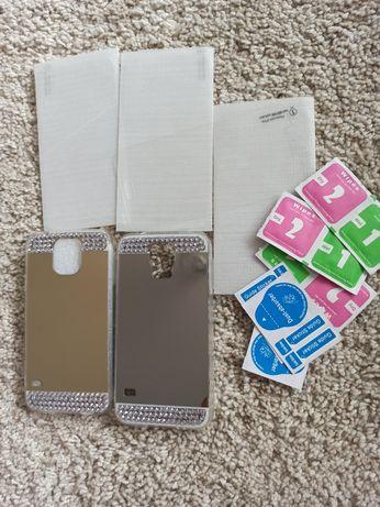 Etui pokrowiec silikonowy Samsung s 5 szkło na telefon Samsung S5