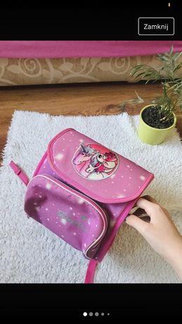 Mały plecak szkolny dla dziewczynki różowy myszka cute kawaii