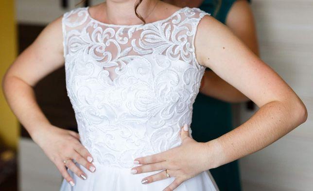 Suknia ślubna r. 36-38 biała