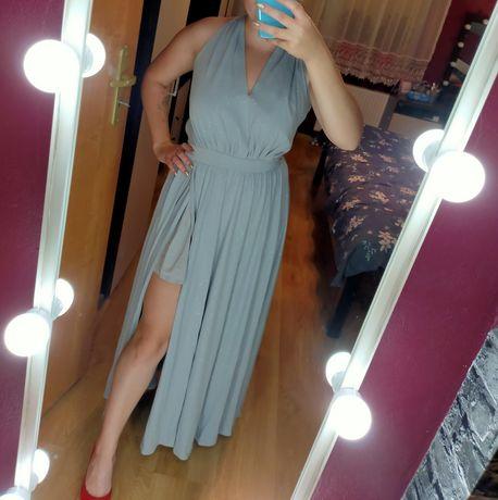 Długa błyszcząca sukienka, gwiezdny pył