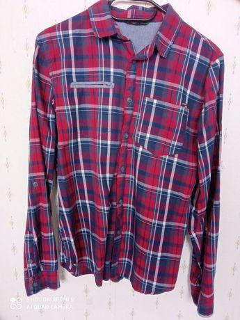 Koszula RESERVED bordowa w kratkę 164cm