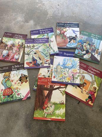 Livros infantis antigos e catecismo 2 ano como novos