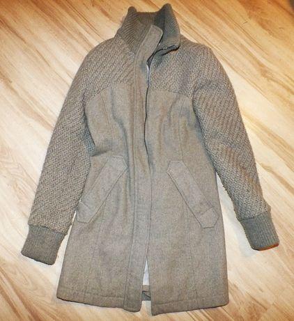 Bershka zimowy płaszczyk elegancki szary M