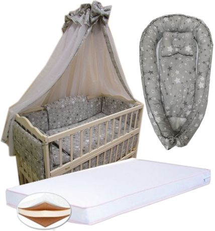 АКЦИЯ! Скидка 50%! Набор в кровать: Матрас кокос, постель, кокон. New