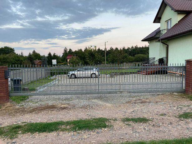 Brama przesuwna solidna ocynk 7,8m - prywatna - okazja - Kraków