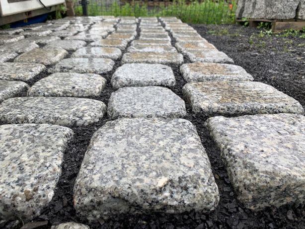 Kostka granit granitowa płaska otoczak szlifowana nowość Bolesławiec