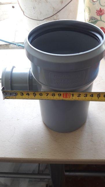 Пластиковый тройник внутренней канализации Европласт Полипропиленовая