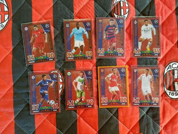 Topps champions league 2015/16 limitki gold silver bronze