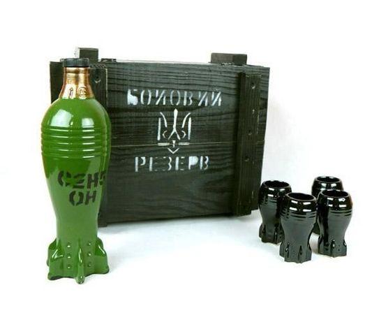 Боевой резерв, подарок мужчине, военному, парню, мина бутылка в ящику
