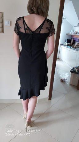 Nowa sukienka czarna Zalando ,koronka