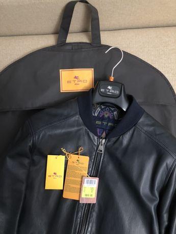 Etro кожаная куртка бомбер Оригинал новая authentic