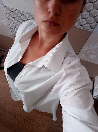 Рубашка белая оверсайз и в полоску