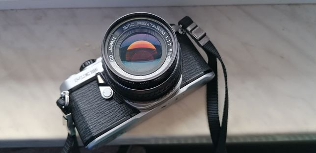 Pentax me super +obiektyw SMC Pentax-m 50mm f:1.7