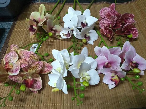 Storczyk gumowy mały gałązka, sztuczne kwiaty