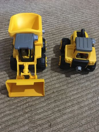 Машинки CAT бульдозер и грузовик