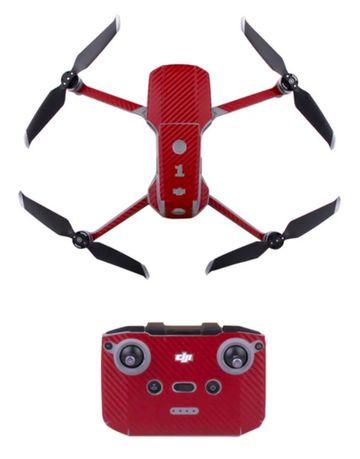Wodoodporna Naklejka Skórka RED CARBON SKIN Folia dron DJI Mavic AIR 2
