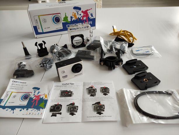 Kamera sportowa DBPower Sports + ogromny zestaw dodatków.