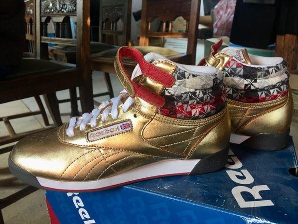 Damskie buty reebok, nowe, złote, rozmiar 38,5