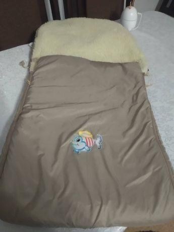 Зимний конверт в коляску или в санки