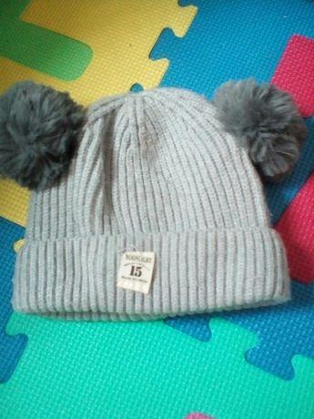 Зимова дитяча шапка 6-10місяців