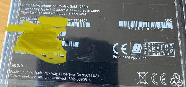iPhone 12 PRO MAX - nowy zafoliowany - GOLD