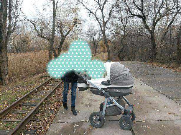 Универсальная коляска 2 в 1 Tako Baby Heaven Exclusive 4 Белая с серым