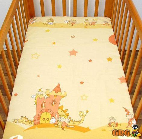 Nowe prześcieradło do łóżeczka dziecięcego z gumką/ różne wzory