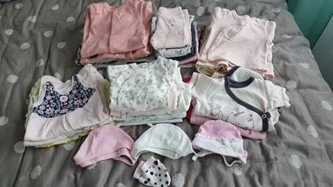 ubranka dla dziewczynki 56-68 + rożek