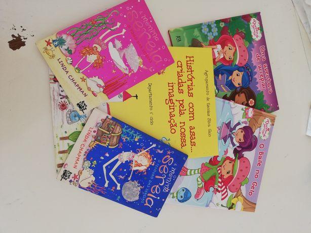 Conjunto de cinco livros infantis
