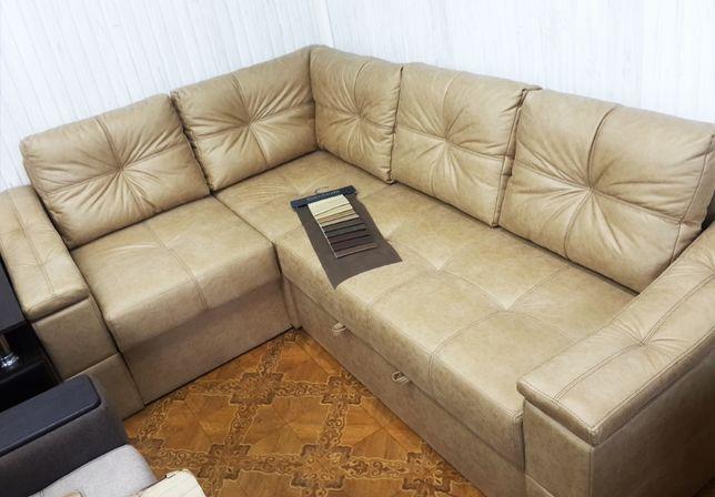 """Угловой диван """"Шенген"""" в ткани Амели. антикоготь."""