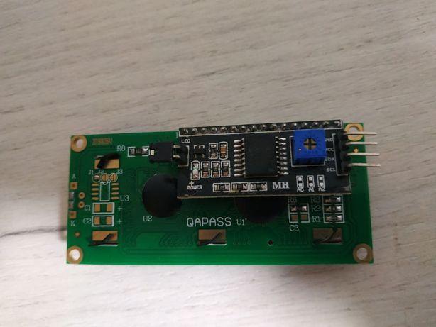 ЖК-модуль LCD 1602 с модулем IIC I2C SPI интерфейса