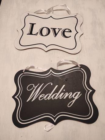 Ozdoby weselne tabliczki ślubne
