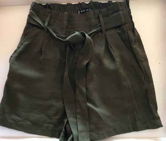 Calções de Cinta Subida - estilo Paper Bag Shorts (portes incluídos)