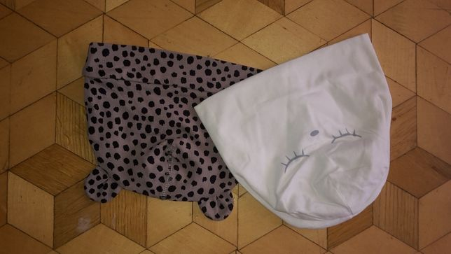 Czapeczki w rozmiarze 80-86 i chustki