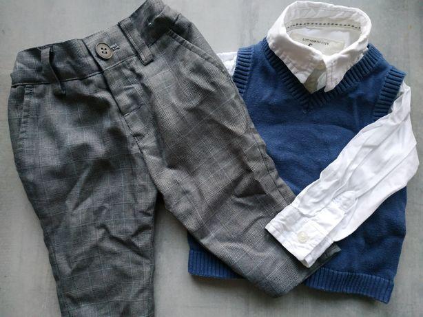 Koszula Zara spodnie garnitur next kamizelka coolclub 68 eleganckie