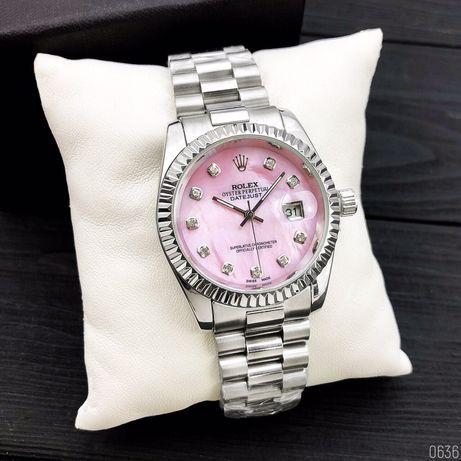 Zegarek Zegarek Rolex Date Just 067 Silver-Pink